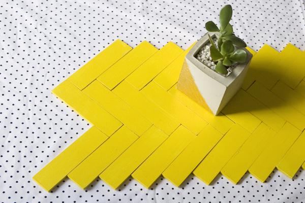 DIY Paint Stick Table Runner