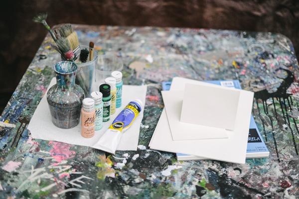 DIY Splatter Painted Notecards 1