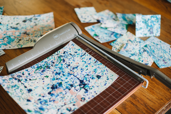 DIY Splatter Painted Notecards