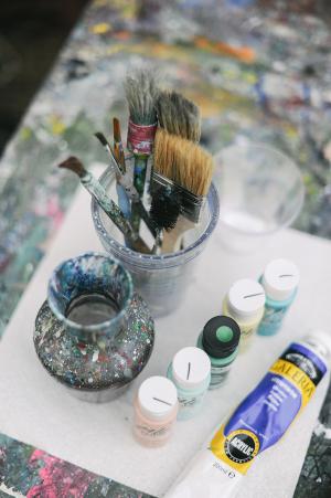 DIY Splatter Painted Notecards 3