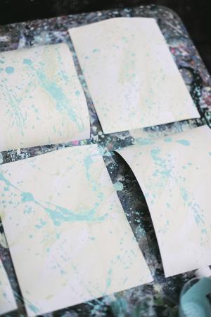 DIY Splatter Painted Notecards