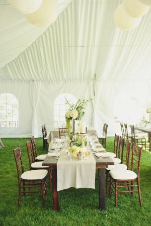 Elegant Ivory Green Reception
