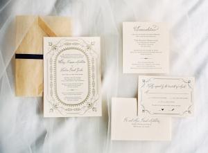 Elegant Letterpress Stationery
