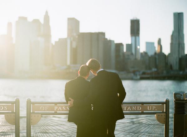 Elegant NYC Wedding Grooms