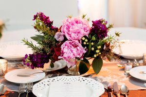 Elegant Purple Centerpieces