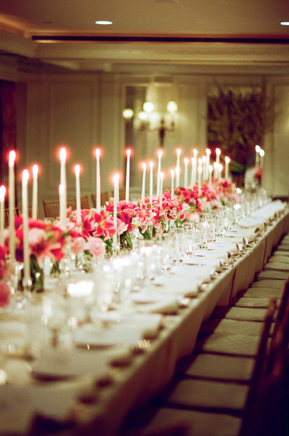 Elegant taper candle centerpiece elizabeth anne designs