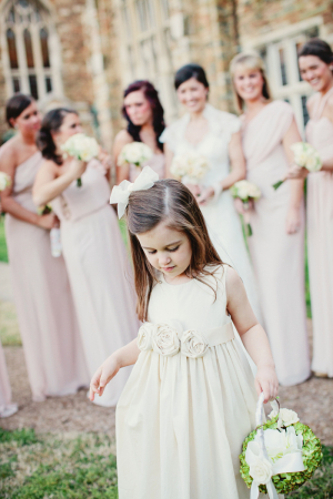 Flower Girl Dress with Rosettes