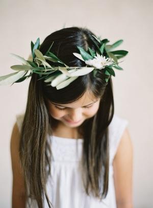 Flower Girl Hair Wreath