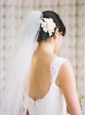 Flower in Updo Bridal Hair Ideas