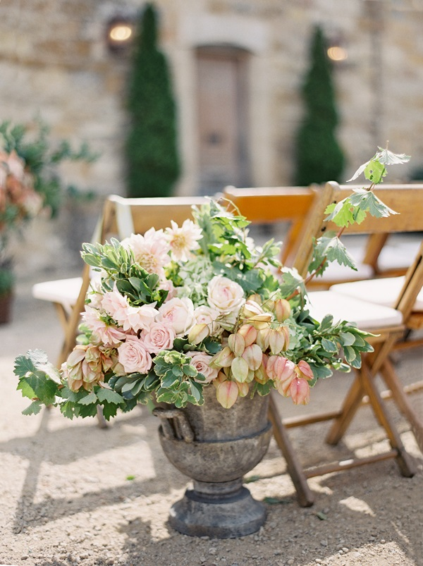 Flowers In Urn Ceremony Decor