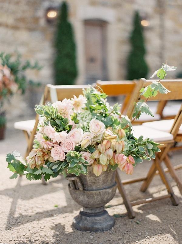 Flowers In Urn Ceremony Decor