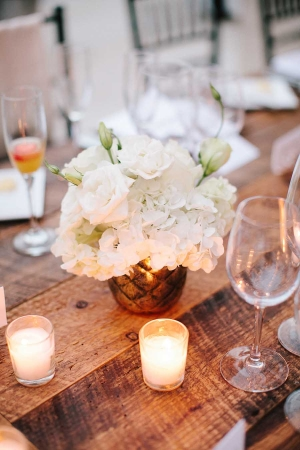 Flowers and Candles Reception Decor Ideas