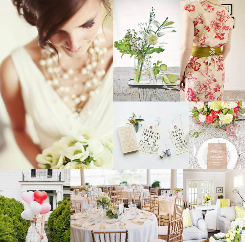 Fresh Green and Berry Wedding Colors