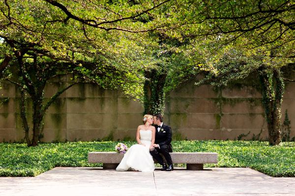 Garden Wedding Portrait Olivia Leigh