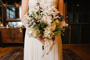 Gray and White Bouquet