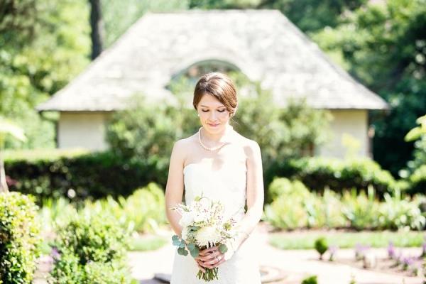 Green and White Garden Bouquet