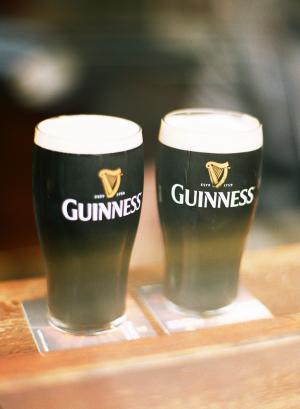 Guinness Beer in Glasses Dublin Engagement