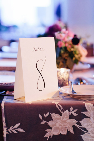 Hand Calligraphy Table Numbers