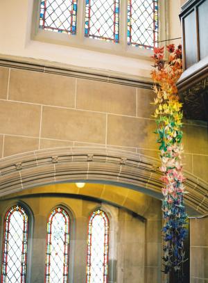 Hanging Flower Garland Ceremony Decor Ideas