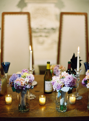 Hydrangea and Rose Floral Reception Decor