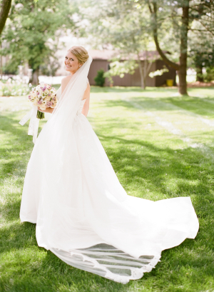 Lace Trimmed Cathedral Length Veil