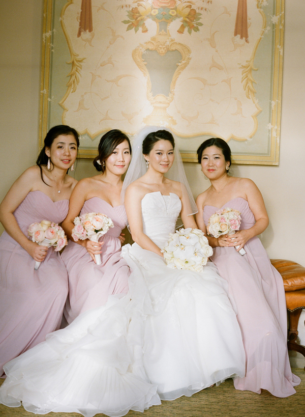 Long Blush Colored Bridesmaids Dresses