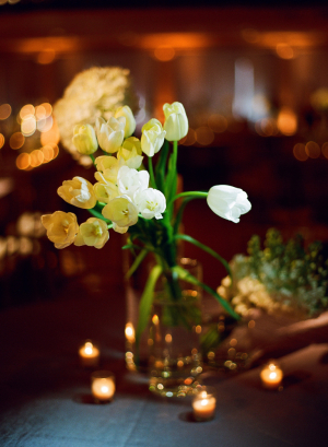 Long Stemmed White Tulips Reception Decor
