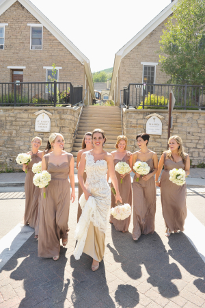 Long Taupe Bridesmaid Dresses