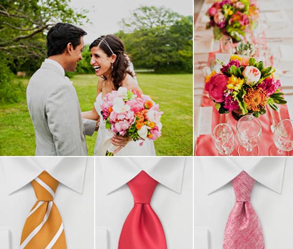Magenta Coral Orange Wedding Palette