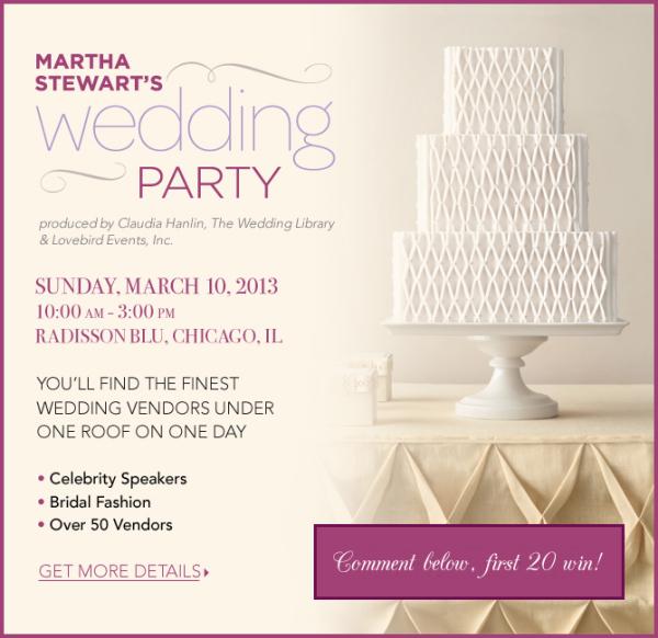 Martha Stewart Wedding Party Chicago