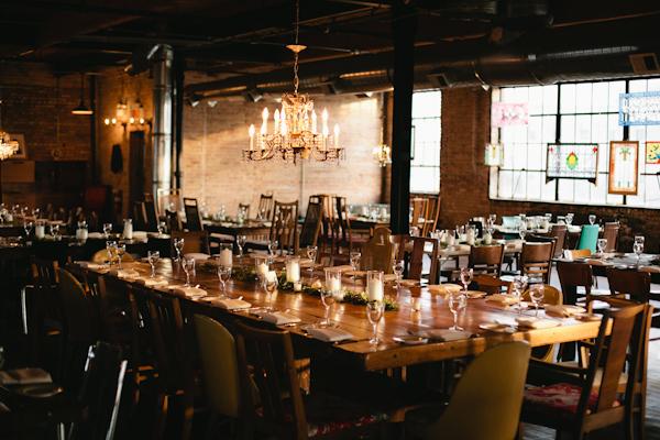Modern Rustic Wedding Reception