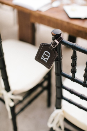 Monogrammed Leather Luggage Tag