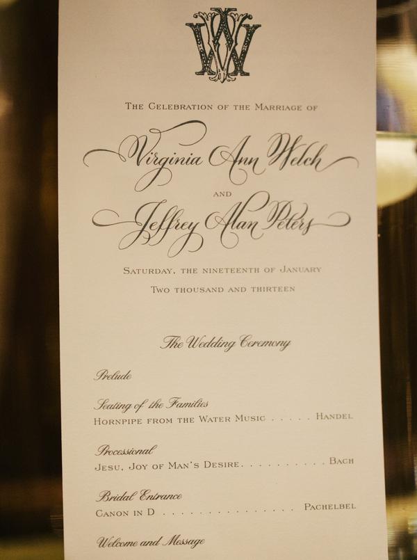 Bach canon wedding