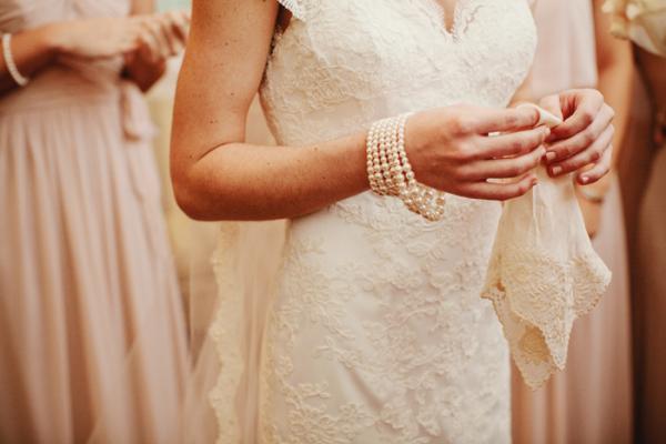 Bride with Vintage Handkerchief