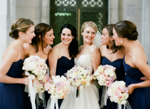 Navy Bridesmaids Dresses