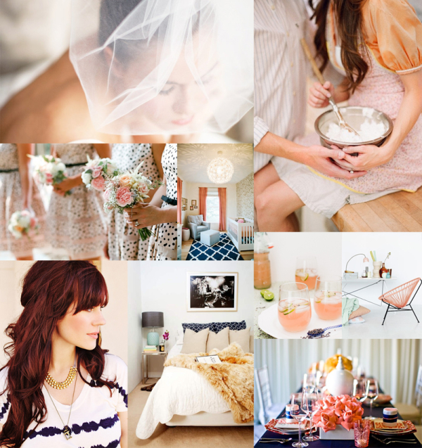 Navy Champagne Coral Wedding Inspiration
