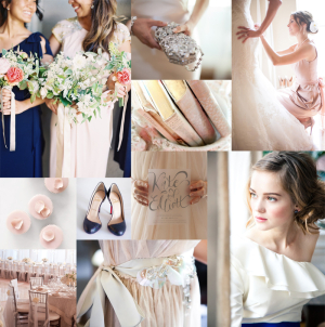 Navy and Blush Wedding Colors