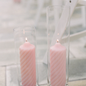 Pale Pink Candle Aisle Decor