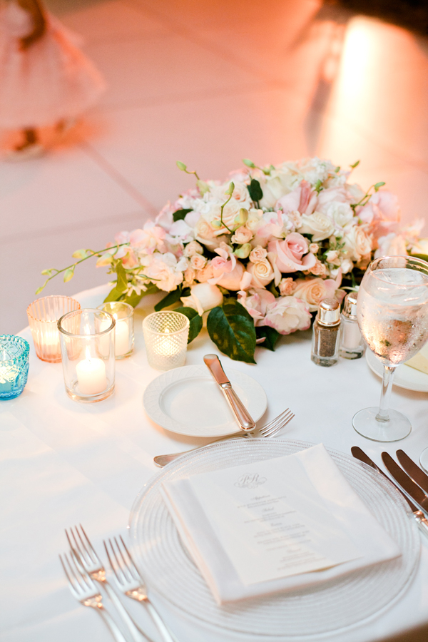 Pale Pink And White Reception Table Decor Elizabeth Anne