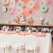 Peach Brunch Table
