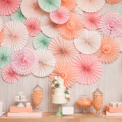 Peach and Mint Dessert Table
