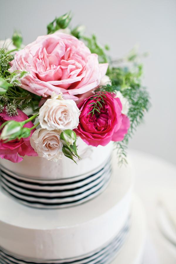 Pink Floral Cake Topper