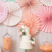 Pink Peach Dessert Table