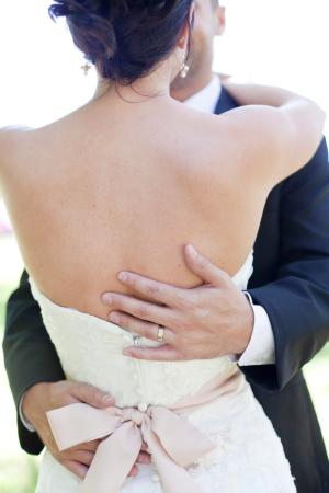 Pink Wedding Dress Sash
