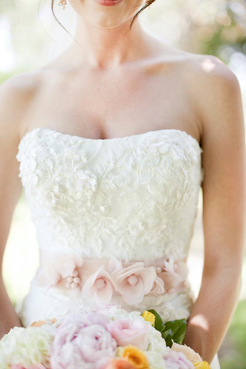 Pink Wedding Dress Sash : Pink wedding gown floral sash elizabeth anne designs