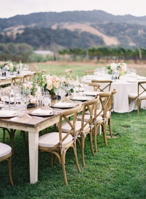 Pink and Peach Reception