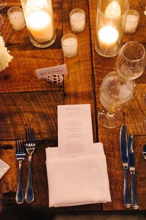 Polished Wood Reception Table