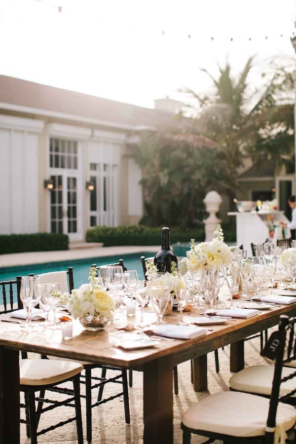 Poolside Reception Table