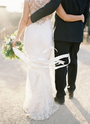 Ribbons On Bouquet