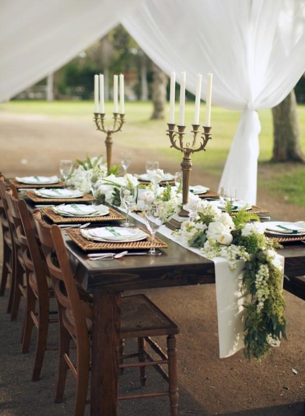 Seeded Eucalyptus Garland Table Runner - Elizabeth Anne Designs ...
